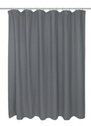 Waffle Weave Extra Long Cotton Shower Curtain - Pewter Grey