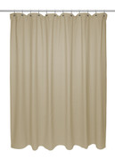 Chevron Weave Extra Long Cotton Shower Curtain - Dark Linen