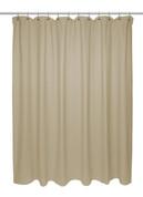 Chevron Weave Extra Long Cotton Shower Curtain - Dark Linen