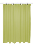 Chevron Weave Extra Long Cotton Shower Curtain - Citron