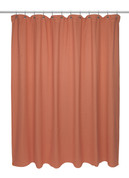 Chevron Weave Cotton Shower Curtain - Burnt Orange