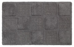Waffle Weave Cotton Bath Rug - Pewter