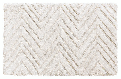 Chevron Weave Cotton Bath Rug - White