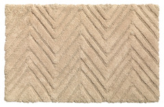 Chevron Weave Cotton Bath Rug - Linen