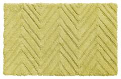 Chevron Weave Cotton Bath Rug - Citron