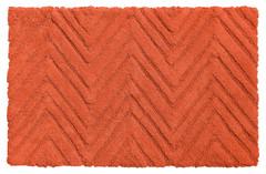 Chevron Weave Cotton Bath Rug - Burnt Coral