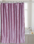 Shimmer Faux-Silk Shower Curtain - Purple
