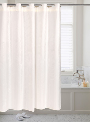 PreHooked Solid Shower Curtain - Ivory