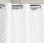 PreHooked Waffle Weave Shower Curtain - White