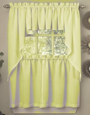 Ribcord Kitchen Curtain - Yellow
