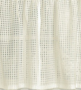 "Gridwork 24"" kitchen curtain tier - Cream"