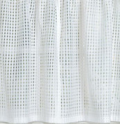 "Gridwork 24"" kitchen curtain tier - White"