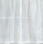 """Gridwork 24"""" kitchen curtain tier - White"""