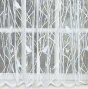 Songbird lace kitchen curtain White