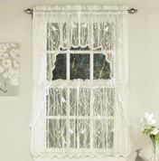 Songbird Lace Kitchen Curtain - Ivory