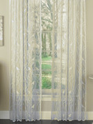Songbird Lace rod pocket curtain panels - Ivory