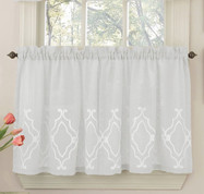 "Carlyle 24"" kitchen curtain tier - White"