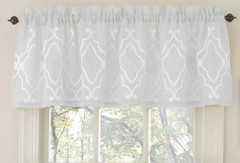 Carlyle kitchen curtain valance - White