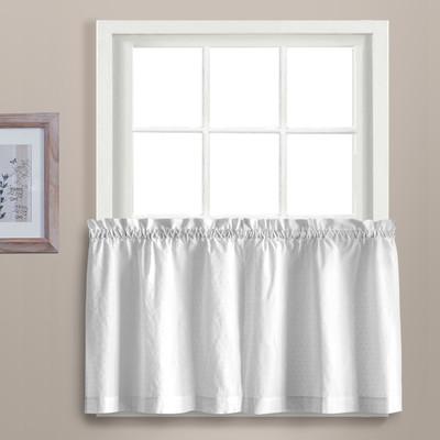 "Dorothy 24"" kitchen curtain tier - White"
