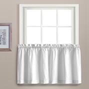 "Dorothy 36"" kitchen curtain tier - White"