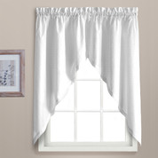 Dorothy swiss dot kitchen curtain swag - White