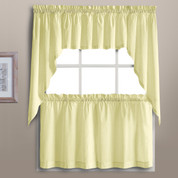 Dorothy Swiss Dot Kitchen Curtain - Yellow