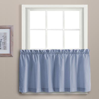 "Dorothy 24"" kitchen curtain tier - Blue"