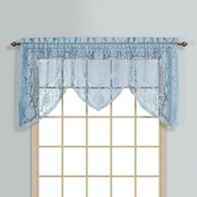 Windsor Lace Swagger Valance - Blue from United Curtain