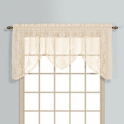 Windsor Lace Swagger Valance - Natural from United Curtain