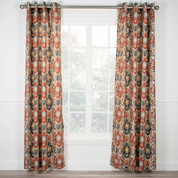 Tuscany Lined Grommet Top Curtain Panel - Red from Ellis Curtain