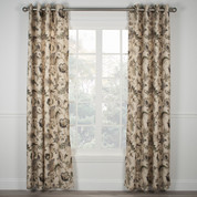 Brissac Lined Grommet Top Curtain Panel - Red from Ellis Curtain