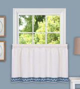 "Camden from Achim 36"" kitchen curtain tier - Blue"