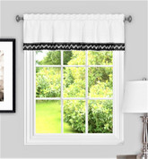 Camden from Achim kitchen curtain valance - Black