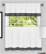 Camden Kitchen Curtain - Black