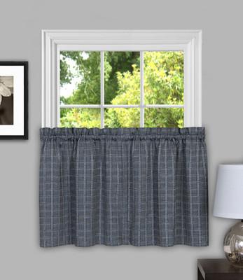 """Sydney from Achim 36"""" kitchen curtain tier - Grey"""