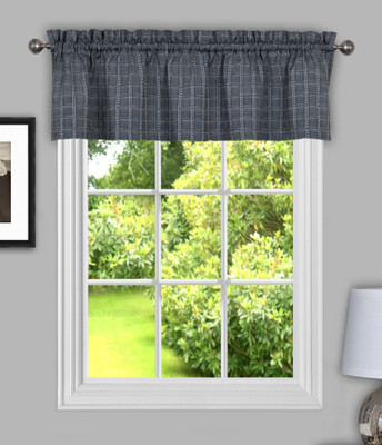 Sydney from Achim kitchen curtain valance - Grey