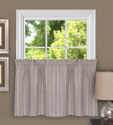 "Sydney from Achim 24"" kitchen curtain tier - Linen"