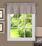 Sydney from Achim kitchen curtain valance - Linen