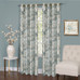 Tranquility Floral Lined Grommet Top Curtain Panel - Mist from Achim