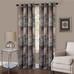Vogue Room Darkening Grommet Top Curtain Panel - Brown