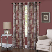 Vogue Room Darkening Grommet Top Curtain Panel - Marsala