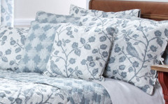 Botanica Reversible Quilted Pillow Sham - Mist