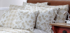 Botanica Reversible Quilted Pillow Sham - Wheat