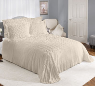 Sylvia Cotton Chenille Bedspreads - Beige