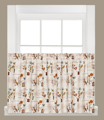 "Le Jardin 36"" kitchen curtain tier from Saturday Knight"