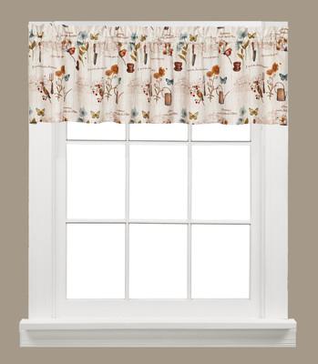 Le Jardin kitchen curtain valance from Saturday Knight