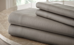 200 Thread Count Solid Sheet Set 100% cotton king - Charcoal