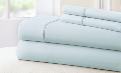 400 Thread Count Rope Sheet Set 100% cotton - Blue/White