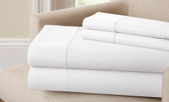 400 Thread Count Single Hole Hem Sheet Set 100% cotton - White