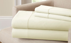 400 Thread Count Single Hole Hem Sheet Set 100% cotton - Ivory
